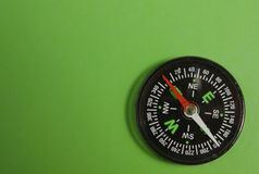 Compass on green Stock Photo