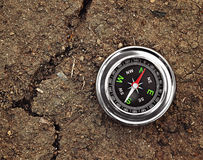 Compass on ground Stock Photography