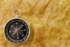 Compass on the grunge  background Royalty Free Stock Images