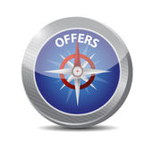Compass guide to offers. illustration design Royalty Free Stock Image