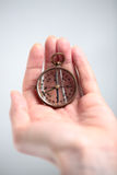 Compass in Hand Royalty Free Stock Photos