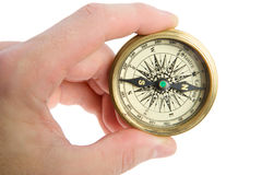 Compass in hand Royalty Free Stock Image