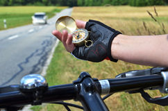 Compass in the hand Stock Photos
