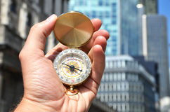 Compass in the hand Stock Image
