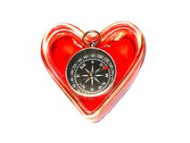 Compass-Heart Stock Photos