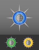 Compass Icon. Abstract Compass Icon. This is file of EPS10 format Royalty Free Stock Images