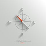 Compass icon. Abstract vector compass icon with shadow in flat style Stock Images