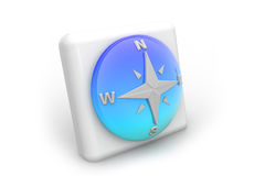 Compass icon. 3d render of Compass icon on isolated background Royalty Free Stock Image