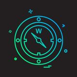 Compass icon design vector. This Vector EPS 10 illustration is best for print media, web design, application design user interface and infographics with well stock illustration