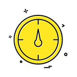 Compass icon design. This Vector EPS 10 illustration is best for print media, web design, application design user interface and infographics with well royalty free illustration
