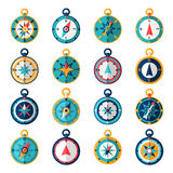Compass Icon Flat Stock Image