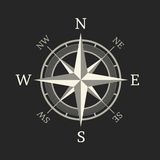 Compass icon isolated on dark background Royalty Free Stock Photos