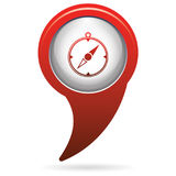 Compass icon isolated Royalty Free Stock Image