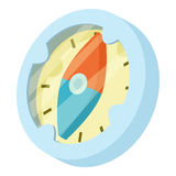 Compass icon, isometric style. Compass icon. Isometric illustration of compass vector icon for web Royalty Free Stock Images