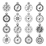 Compass Icon Set Stock Image