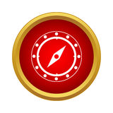 Compass icon in simple style Royalty Free Stock Photos