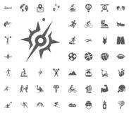 Compass icon. Sport illustration vector set icons. Set of 48 sport icons. Compass icon. Sport illustration vector set icons. Set of 48 sport icons Stock Photography