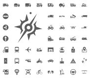 Compass icon. Transport and Logistics set icons. Transportation set icons.  Stock Photography