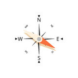 Compass icon vector Royalty Free Stock Photography