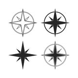 Compass icons isolated on white background Royalty Free Stock Photo