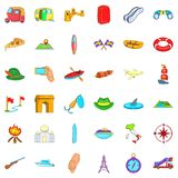 Compass icons set, cartoon style Royalty Free Stock Photos