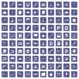 100 compass icons set grunge sapphire. 100 compass icons set in grunge style sapphire color isolated on white background vector illustration Stock Photography