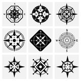 Compass Icons Set Royalty Free Stock Photography
