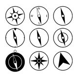 Compass icons on white background Stock Photography