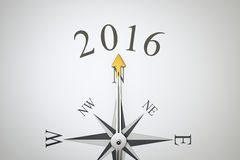 Compass. An image of a nice compass with the number 2016 Royalty Free Stock Images