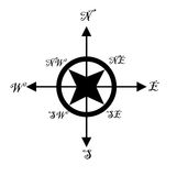 Compass isolated Stock Image