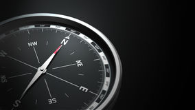 Compass isolated on blck background Stock Photo