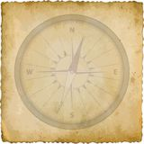 Compass. Isolated old card with compass Stock Photo