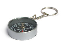Compass keyring Royalty Free Stock Images