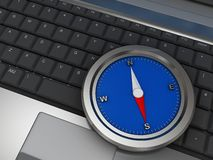 Compass on laptop Stock Images