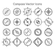 Compass line icons Royalty Free Stock Images