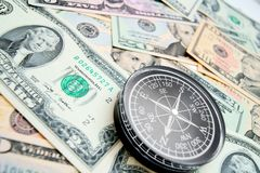 The compass and is a lot of money. Stock Images