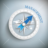 Compass Management Stock Photography