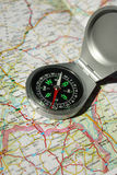 Compass&Map Stock Image