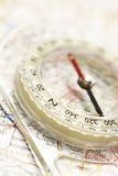 Compass on map Stock Images