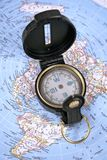 Compass & Map Stock Images