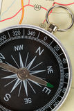 Compass and map Royalty Free Stock Images