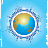 Compass and map design Stock Photo