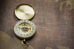 Compass and map Royalty Free Stock Photos