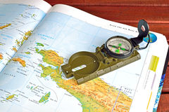 Compass and maps Royalty Free Stock Images