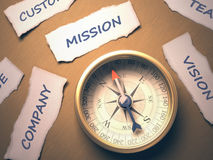 Compass Mission Stock Photo