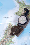 Compass on modern map Stock Photography