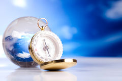 Compass, modern theme of journey Stock Photography