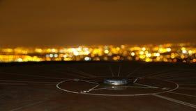 Compass Monument Cityscape Stock Photo