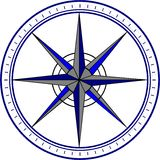 Compass / Navigation / Pointer. An illustration of a compass. An additional Vector .eps file available Royalty Free Stock Photography