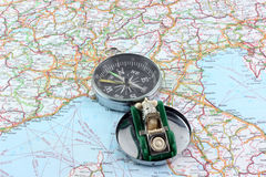 Compass and navigator Royalty Free Stock Image